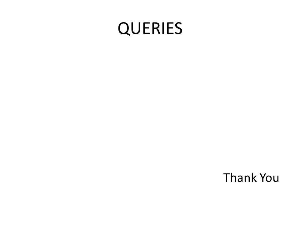 QUERIES Thank You