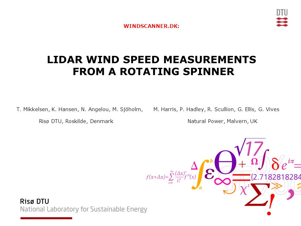 WINDSCANNER.DK: LIDAR WIND SPEED MEASUREMENTS FROM A ROTATING SPINNER