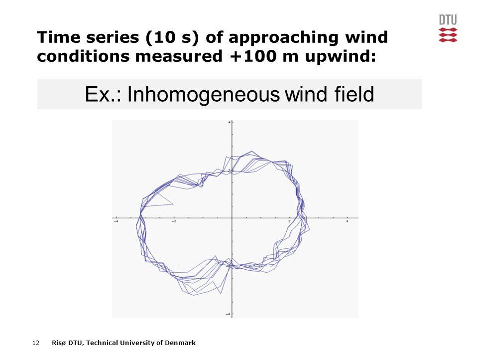 Ex.: Inhomogeneous wind field