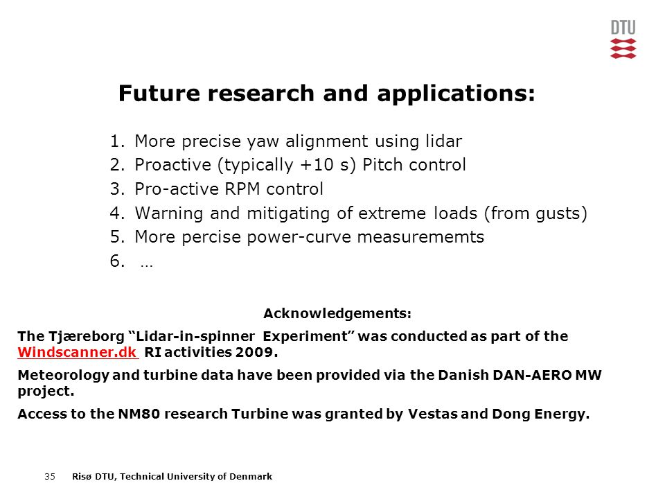 Future research and applications: