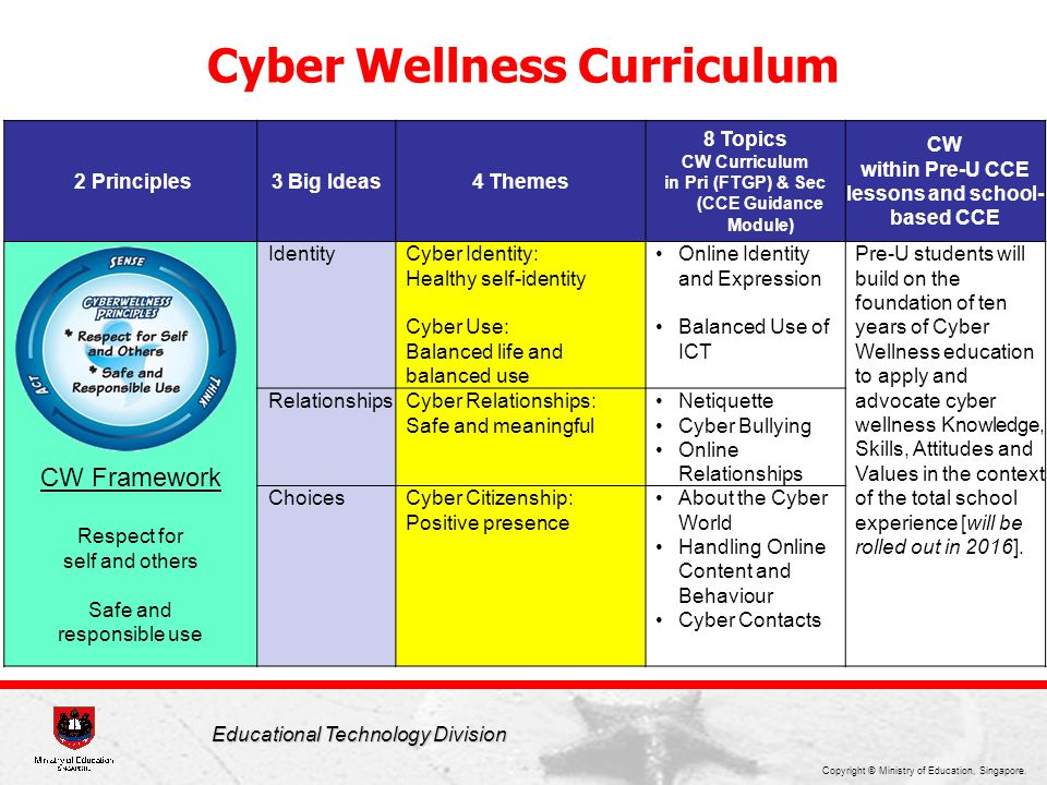 Cyber Wellness Curriculum