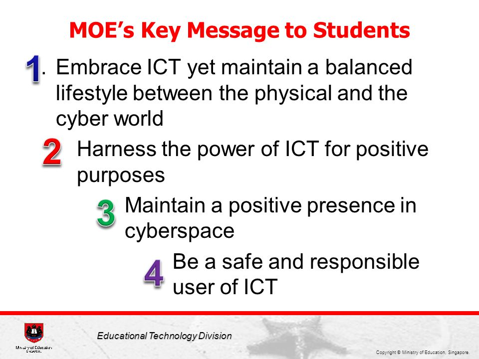 Key Messages to Students
