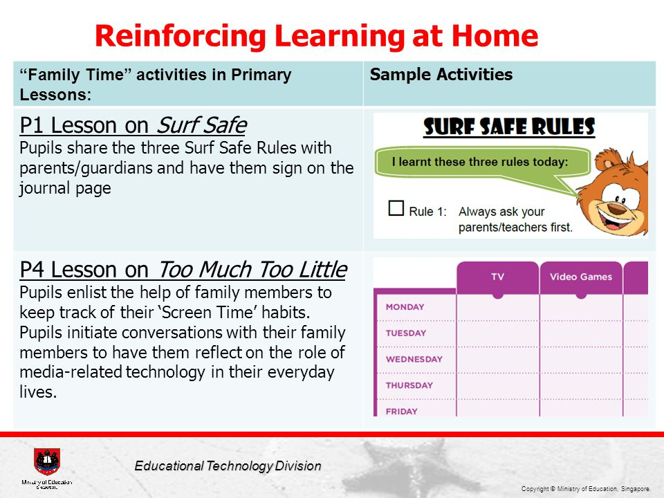 Reinforcing Learning at Home