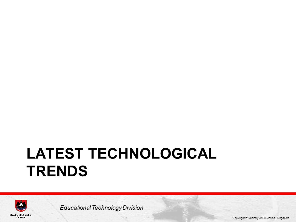 Latest Technological trends