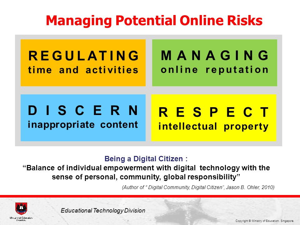 Managing Potential Online Risks Being a Digital Citizen :