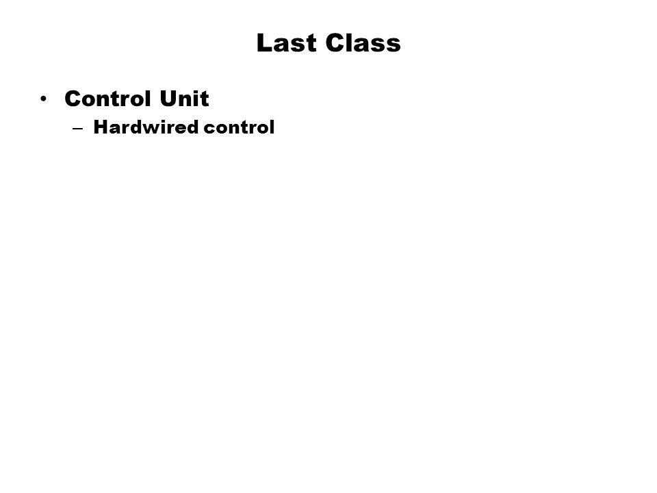 Last Class Control Unit Hardwired control
