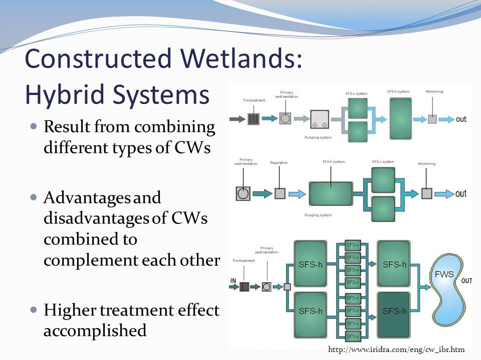 Constructed Wetlands: Hybrid Systems