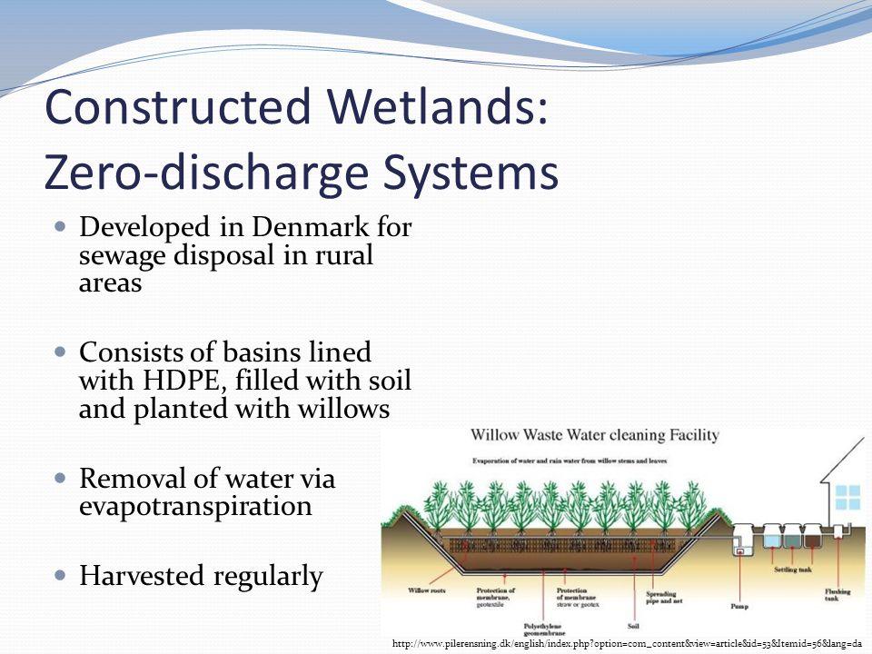 Constructed Wetlands: Zero-discharge Systems