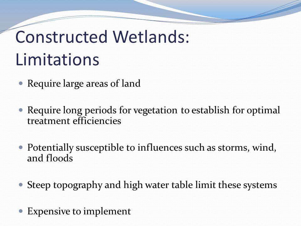 Constructed Wetlands: Limitations