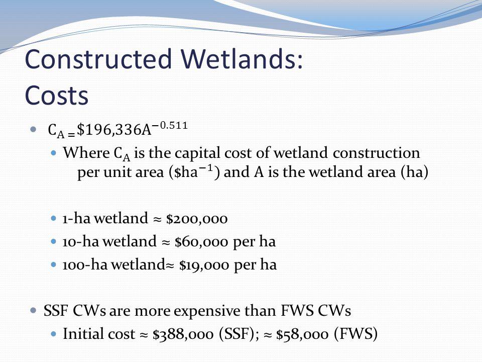 Constructed Wetlands: Costs