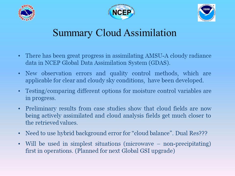 Summary Cloud Assimilation