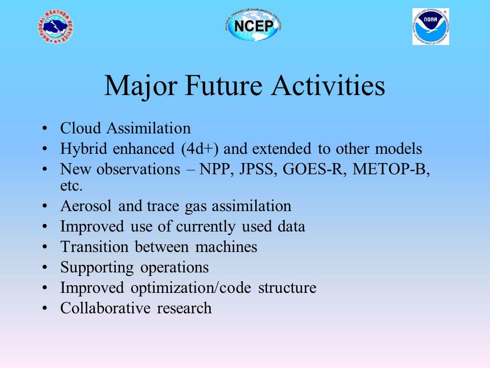 Major Future Activities
