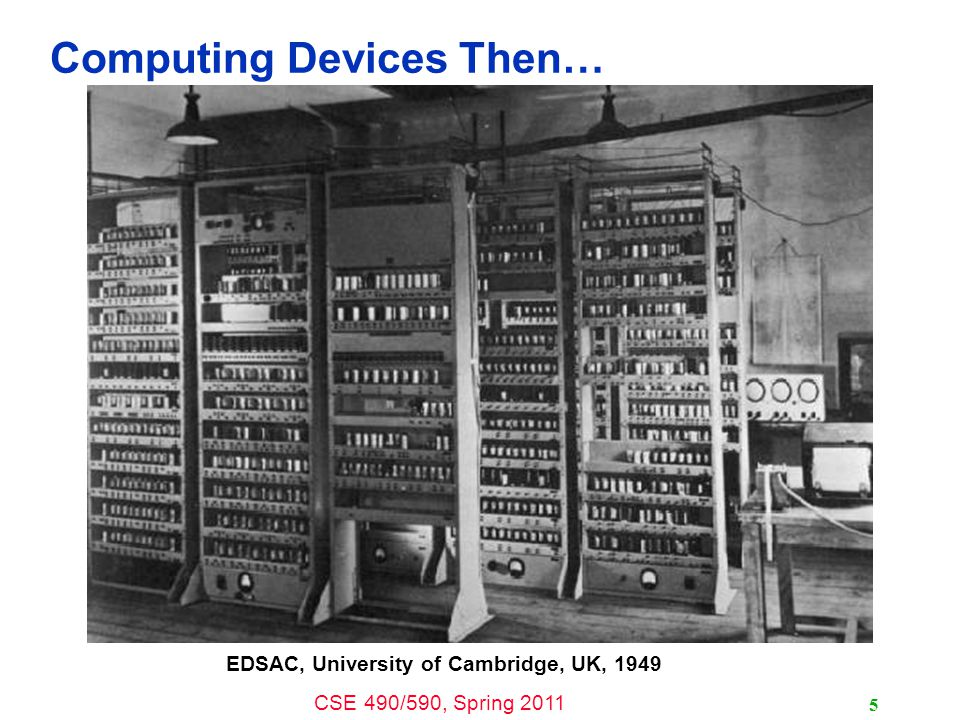 Computing Devices Then…