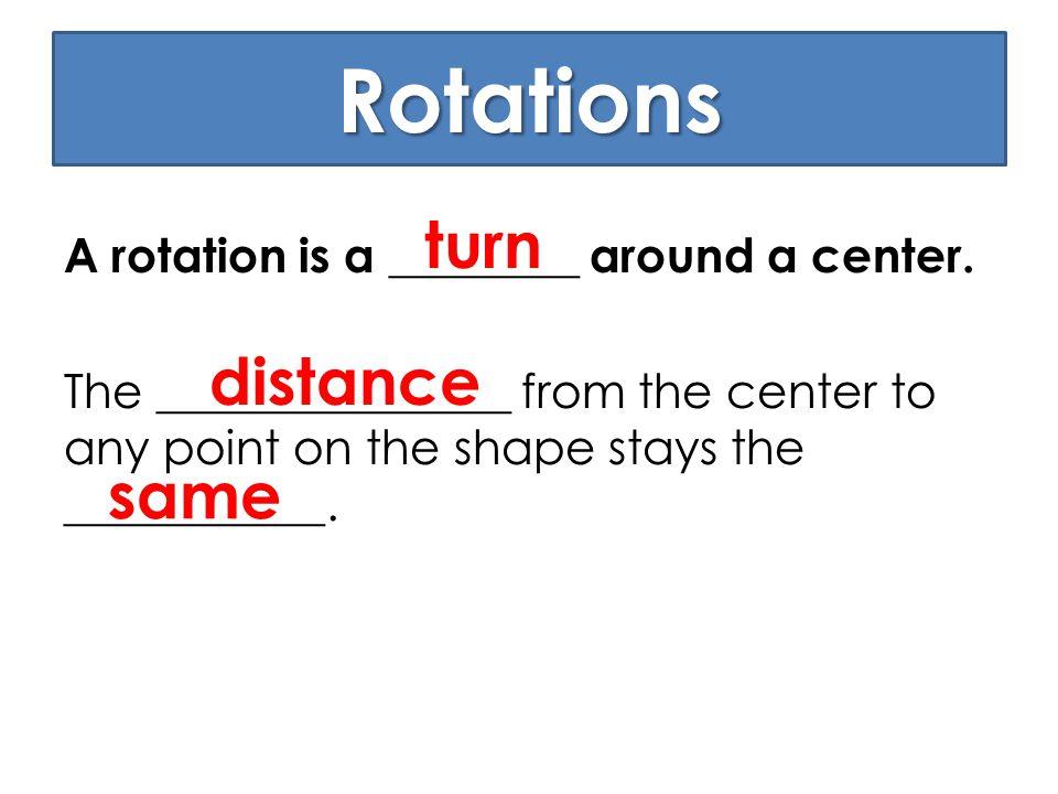 Rotations turn distance same