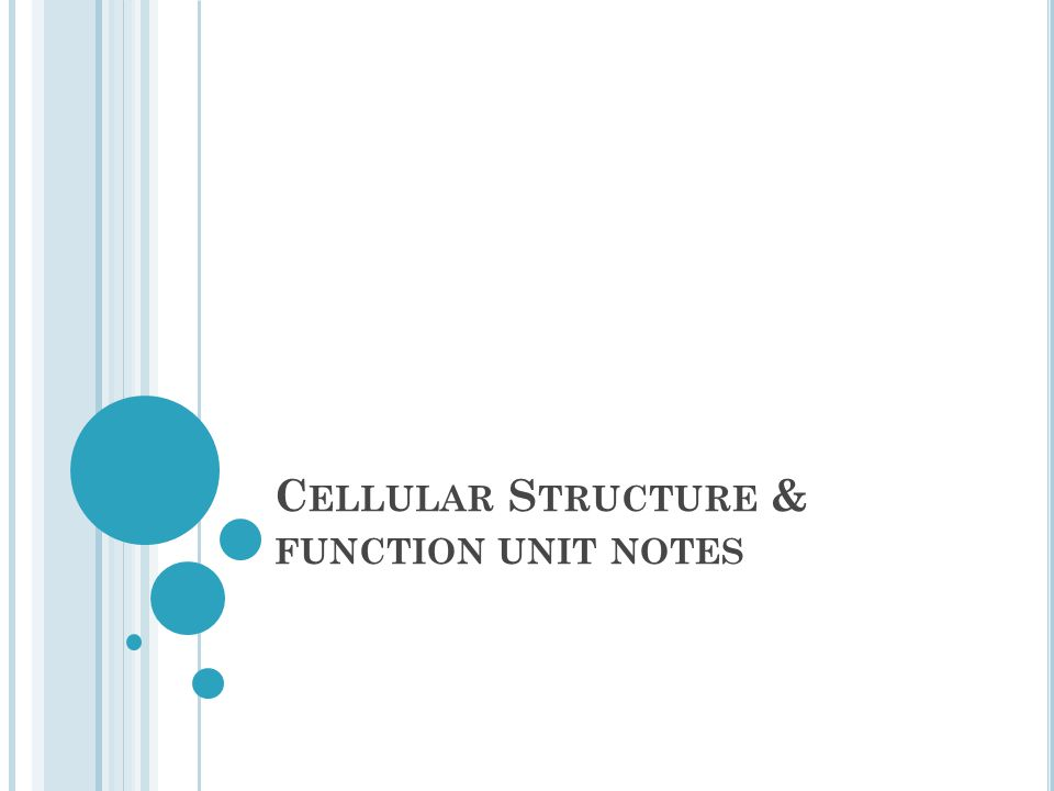Cellular Structure & function unit notes