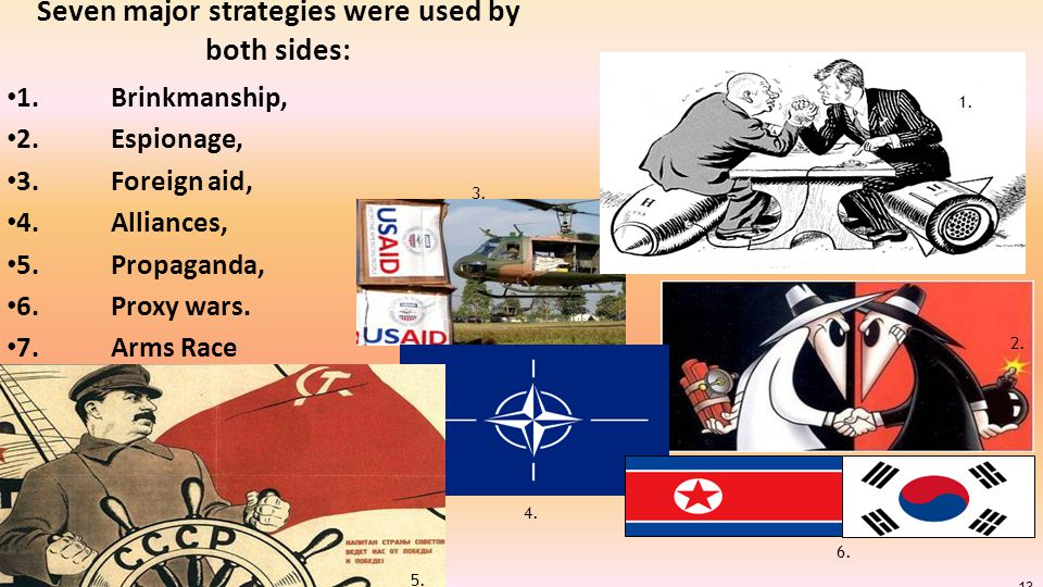 Seven major strategies were used by both sides: