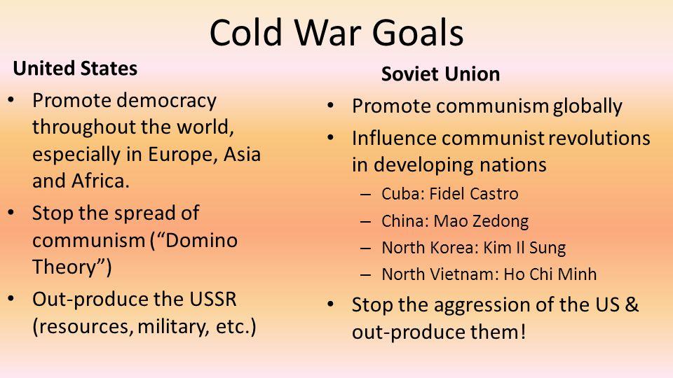 Cold War Goals United States Soviet Union