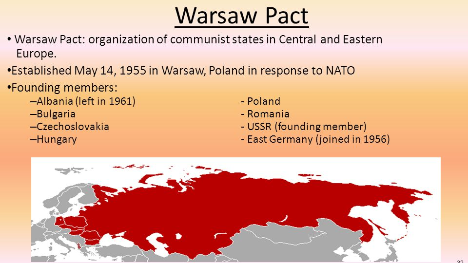 Warsaw Pact Warsaw Pact: organization of communist states in Central and Eastern Europe.