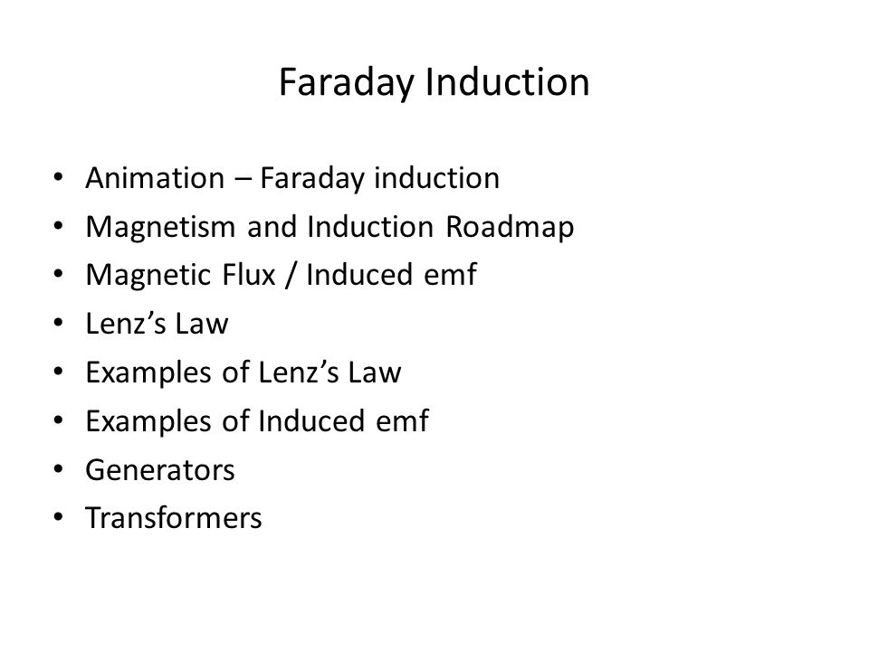 Faraday Induction Animation – Faraday induction