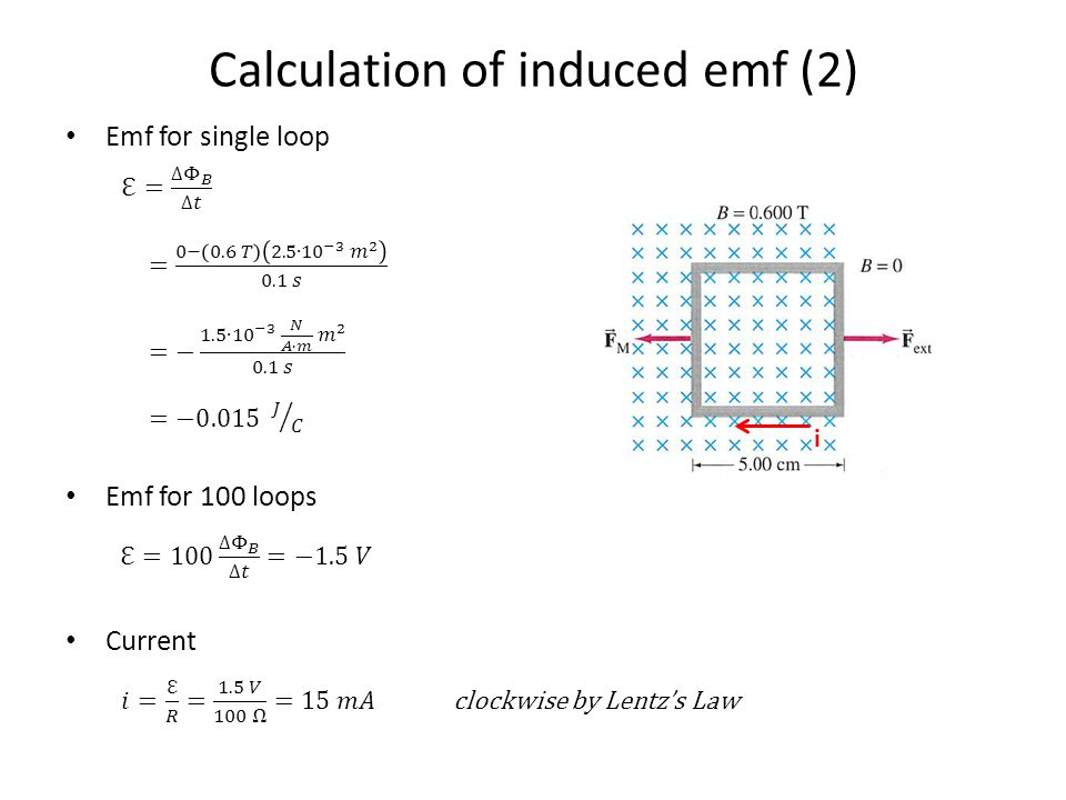 Calculation of induced emf (2)