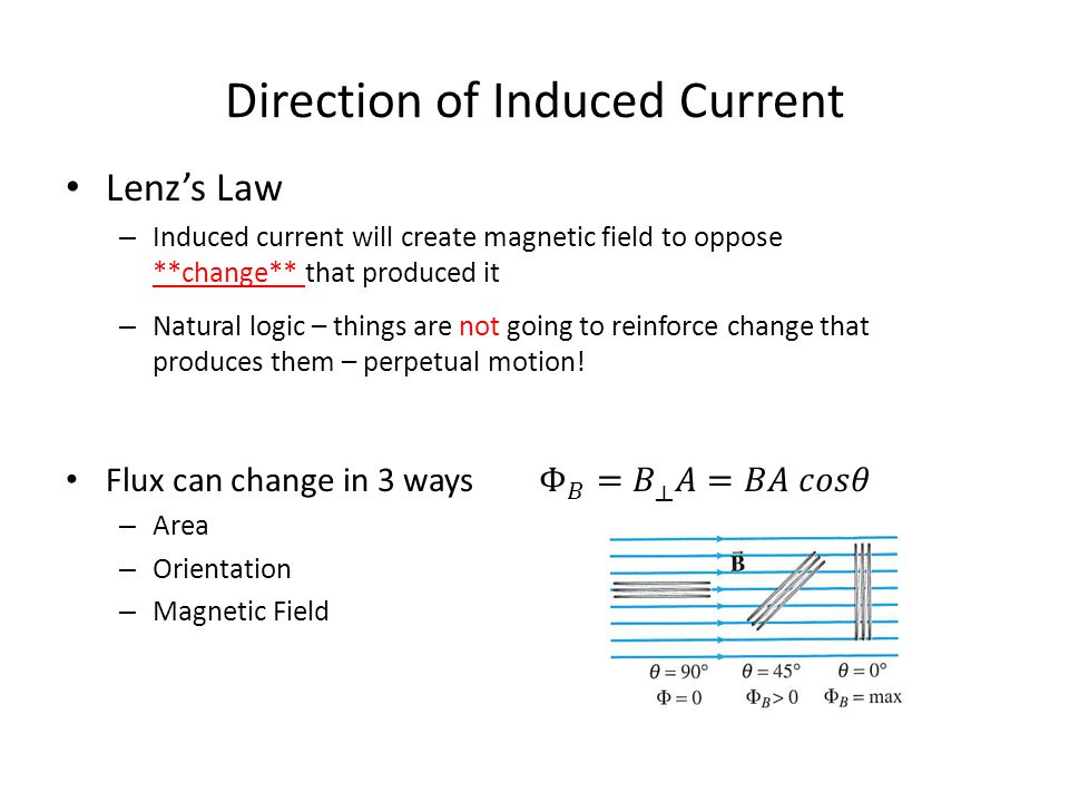 Direction of Induced Current