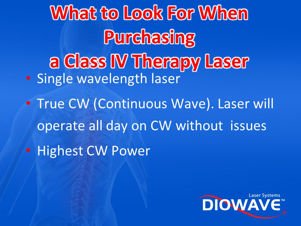 What to Look For When Purchasing a Class IV Therapy Laser