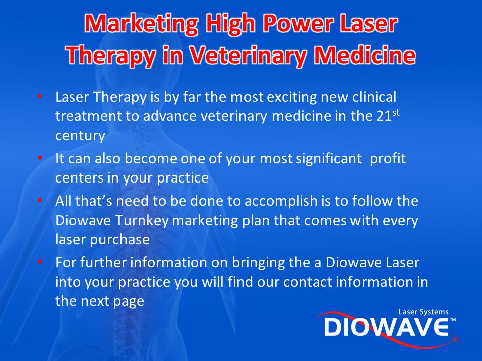 Marketing High Power Laser Therapy in Veterinary Medicine