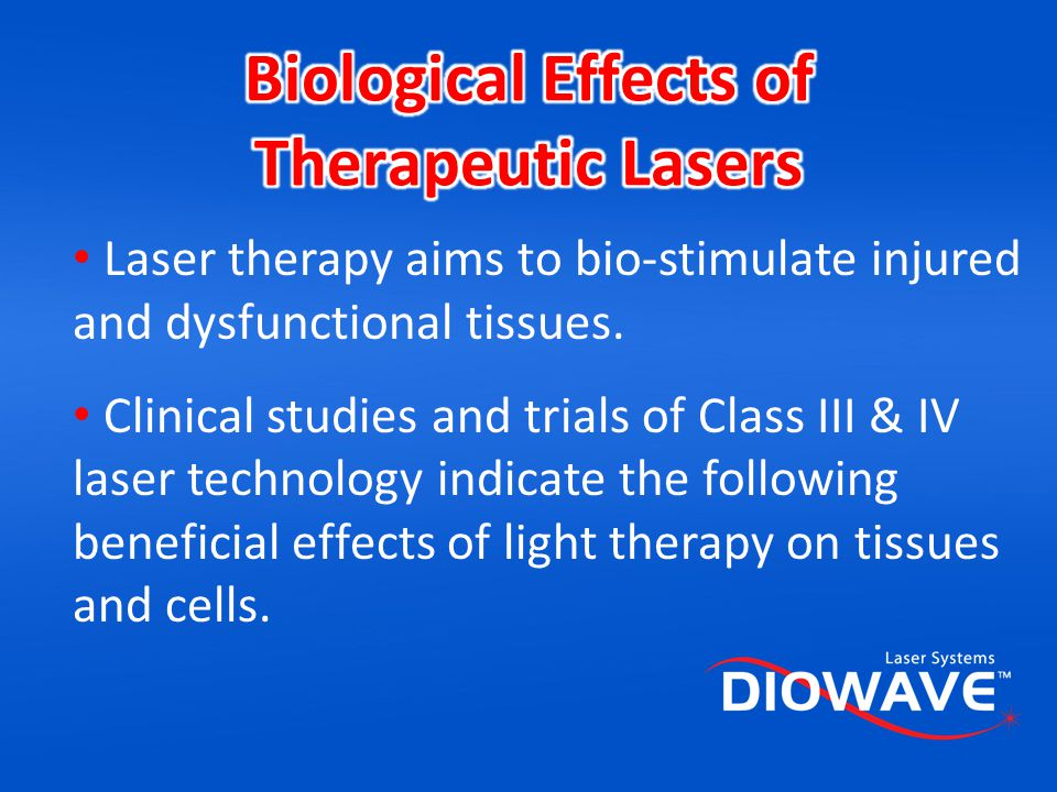Biological Effects of Therapeutic Lasers