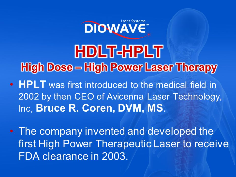 HDLT-HPLT High Dose – High Power Laser Therapy