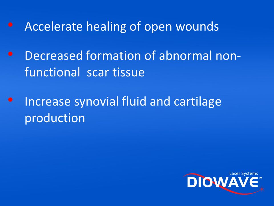 Accelerate healing of open wounds