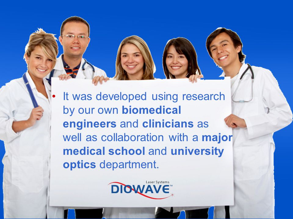 It was developed using research by our own biomedical engineers and clinicians as well as collaboration with a major medical school and university optics department.