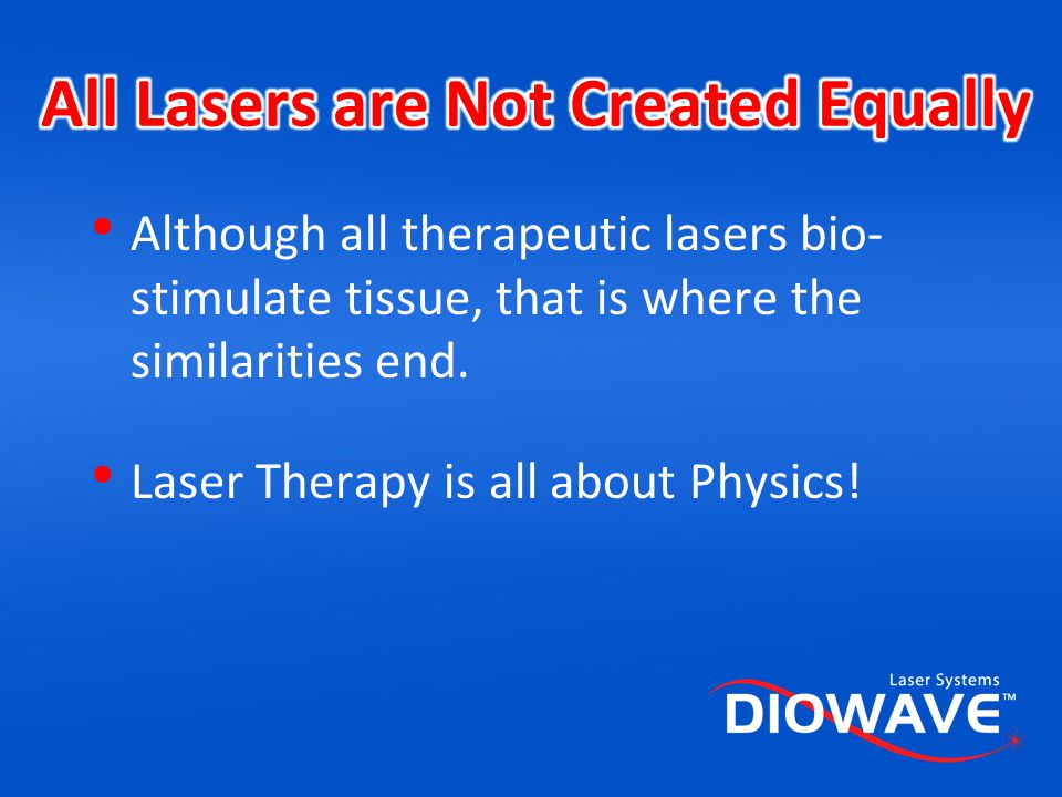 All Lasers are Not Created Equally