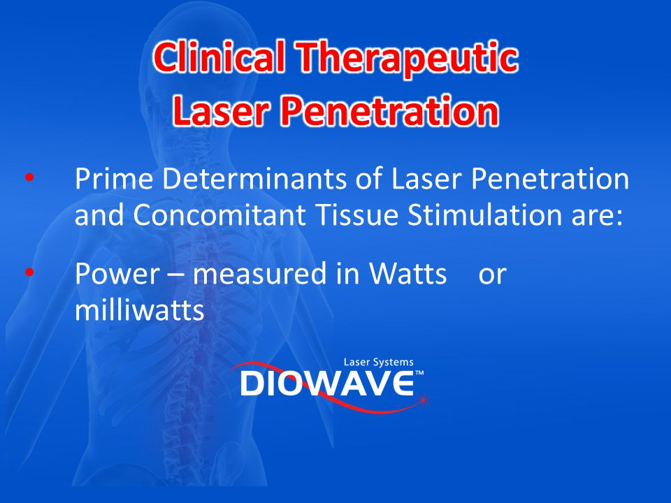 Clinical Therapeutic Laser Penetration