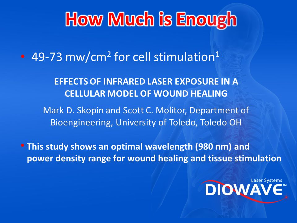 How Much is Enough 49-73 mw/cm2 for cell stimulation1