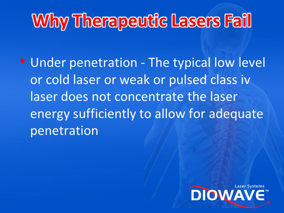 Why Therapeutic Lasers Fail