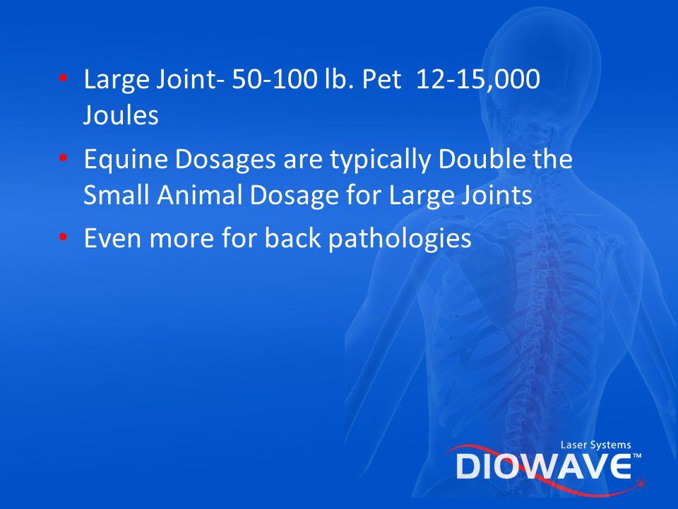 Large Joint- 50-100 lb. Pet 12-15,000 Joules