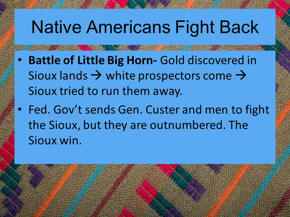 Native Americans Fight Back