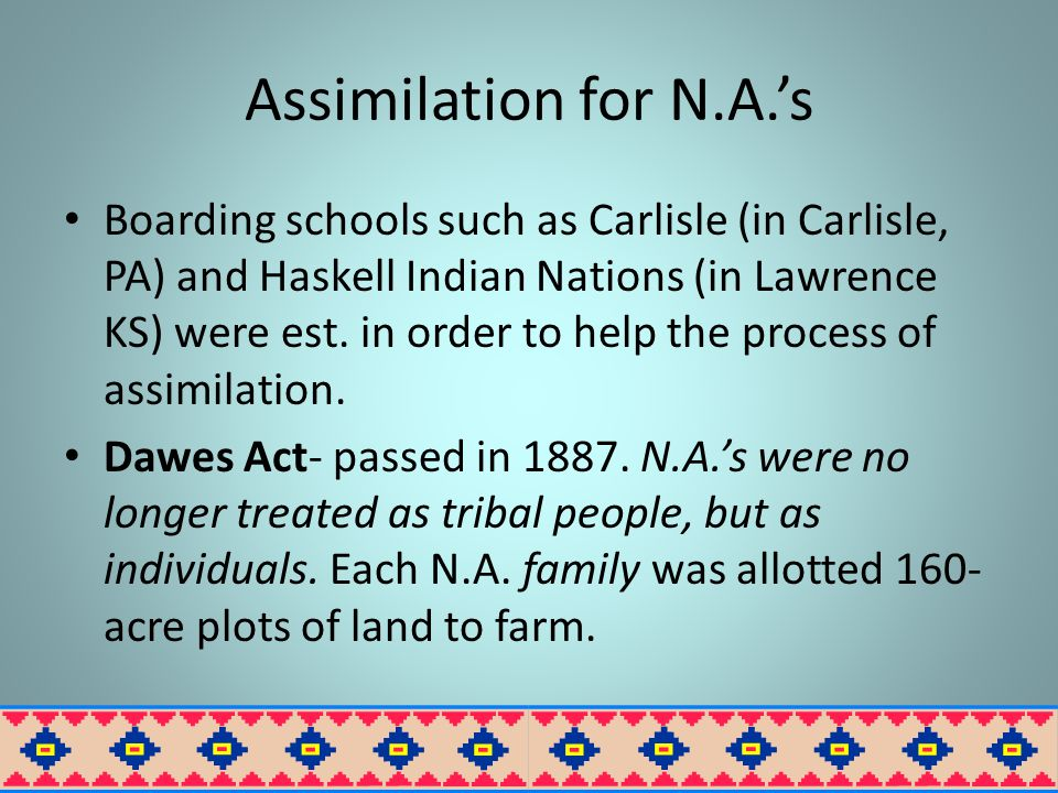 Assimilation for N.A.'s