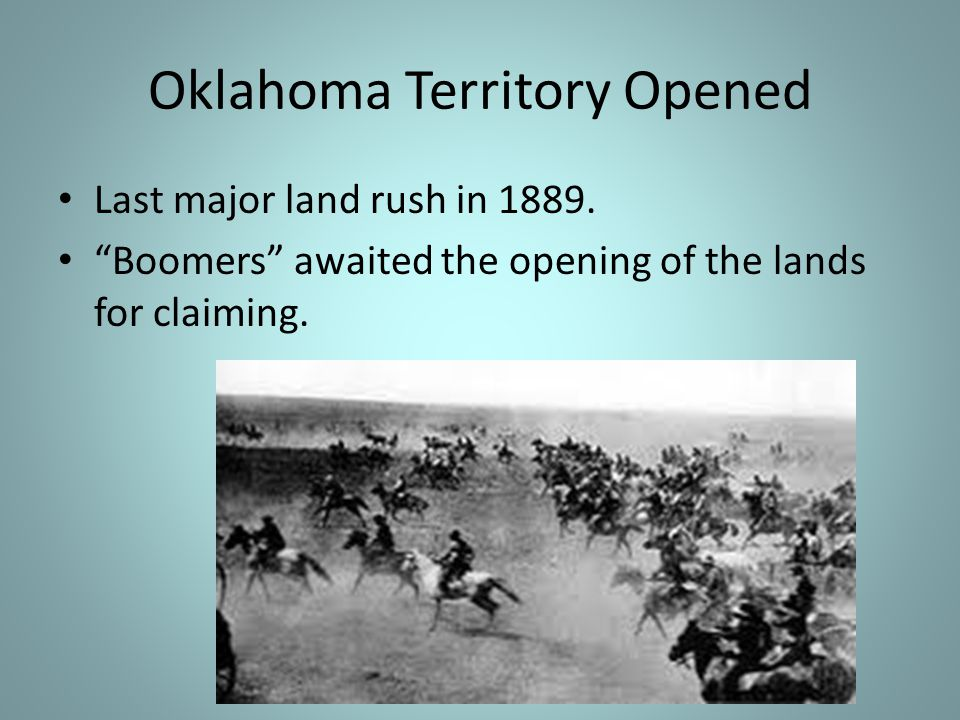 Oklahoma Territory Opened