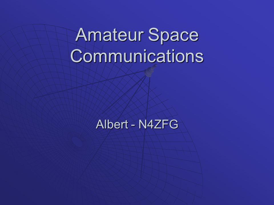 Amateur Space Communications Albert - N4ZFG