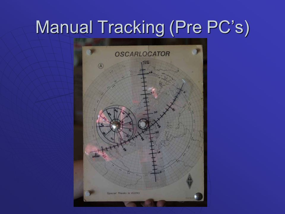 Manual Tracking (Pre PC's)