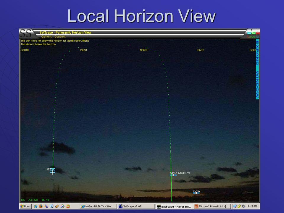 Local Horizon View