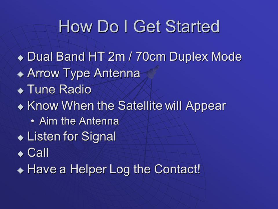 How Do I Get Started Dual Band HT 2m / 70cm Duplex Mode