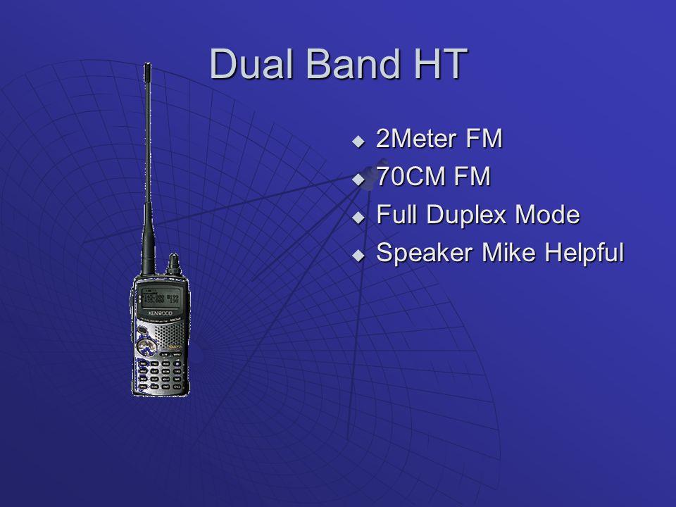 Dual Band HT 2Meter FM 70CM FM Full Duplex Mode Speaker Mike Helpful