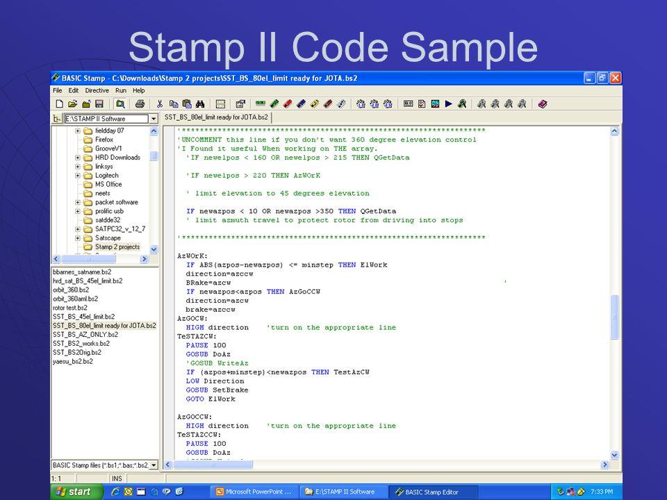Stamp II Code Sample