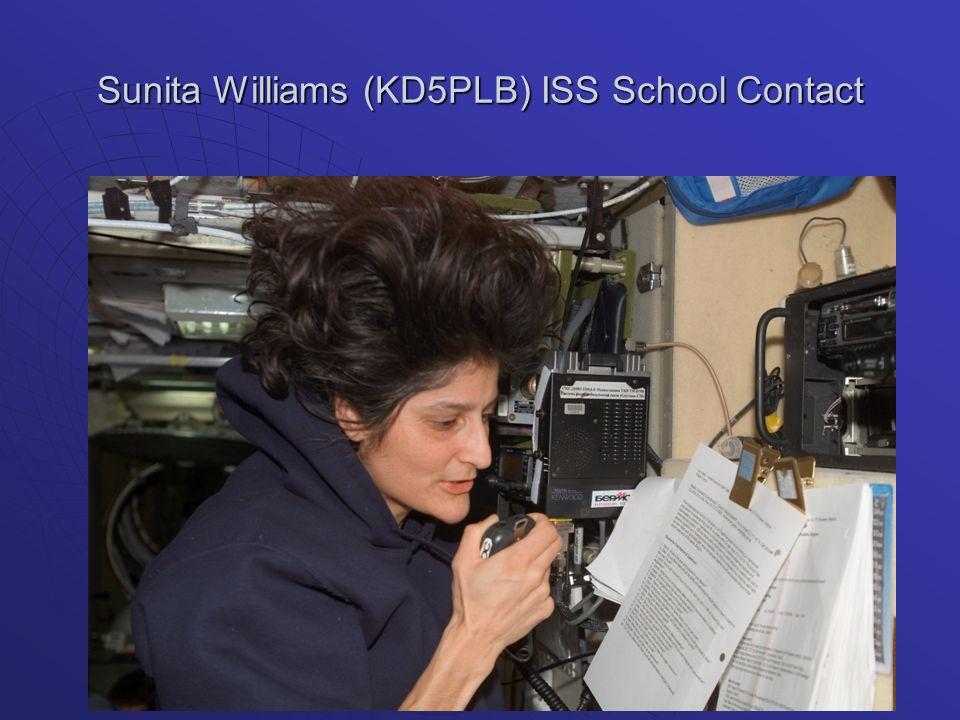 Sunita Williams (KD5PLB) ISS School Contact