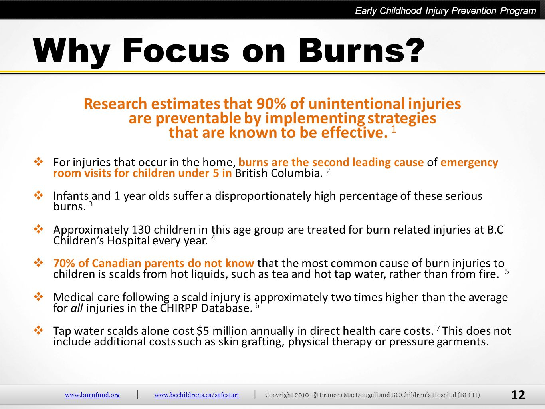 Why Focus on Burns Why Focus on Burns