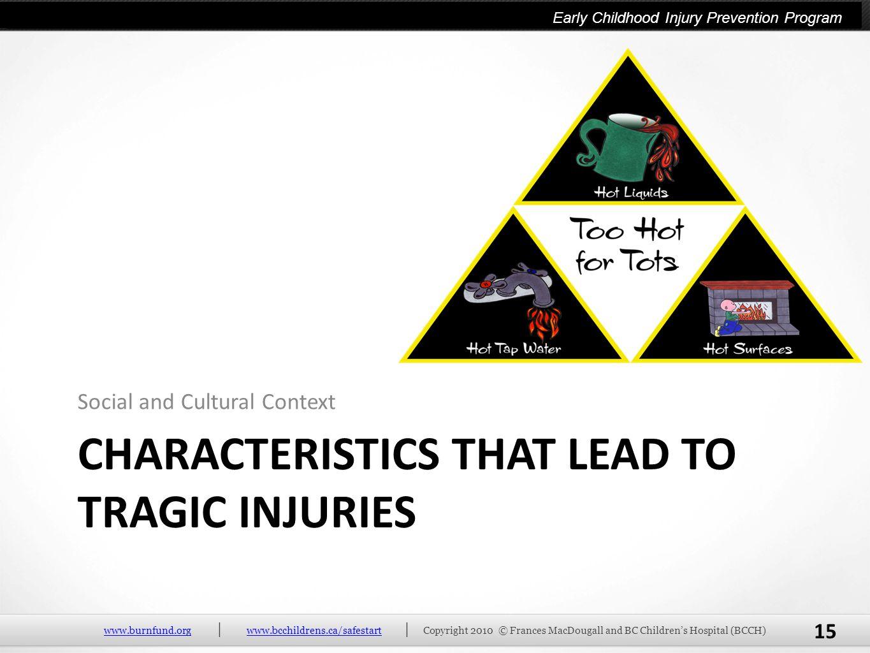 Characteristics that lead to tragic injuries