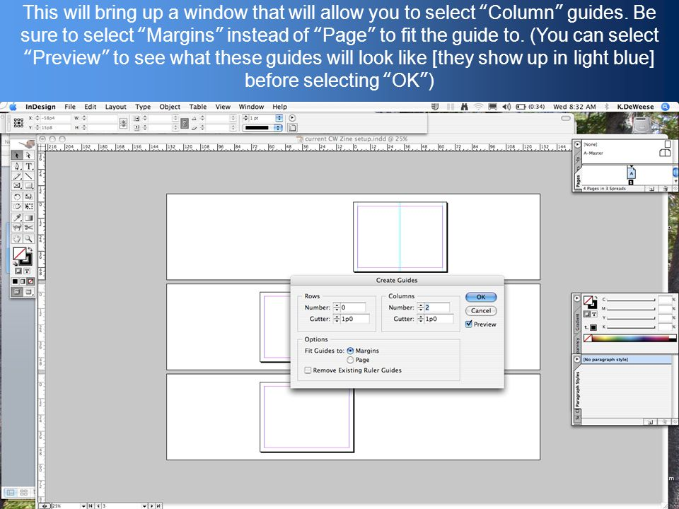 This will bring up a window that will allow you to select Column guides.