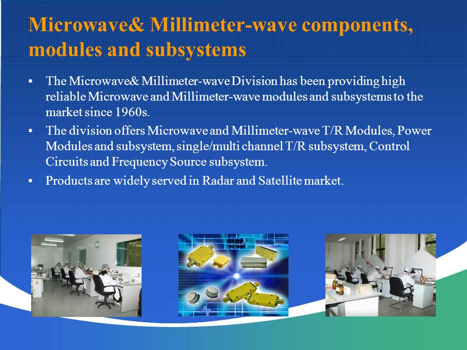 Microwave& Millimeter-wave components, modules and subsystems